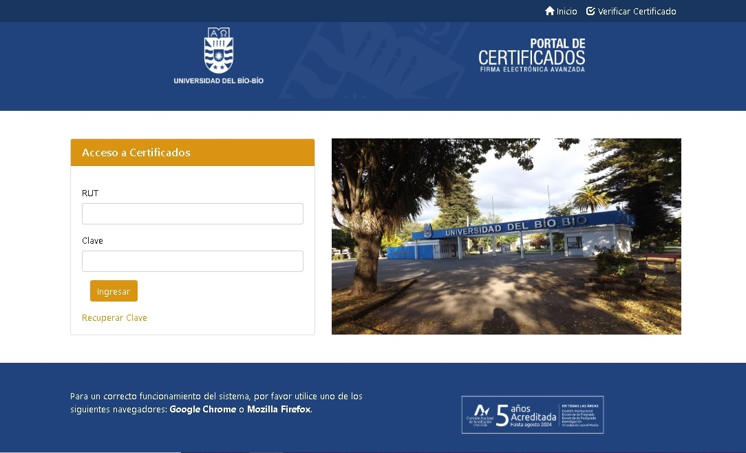 <b>Portal de Certificados</b>